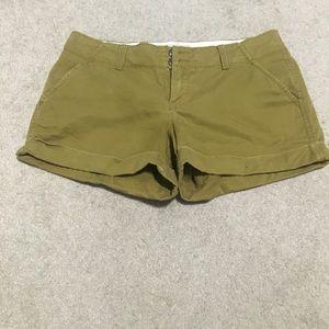 Olive shorts